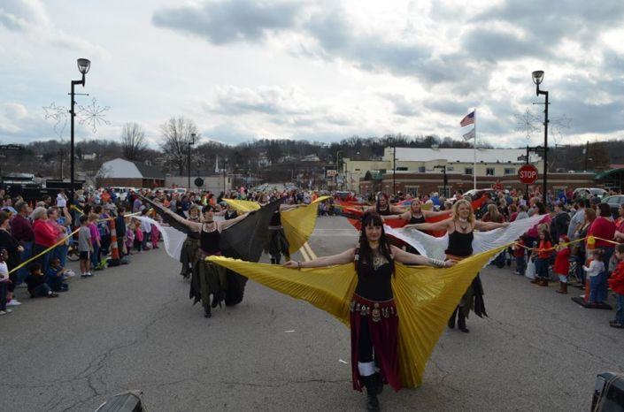 Samadhi in parade with wings